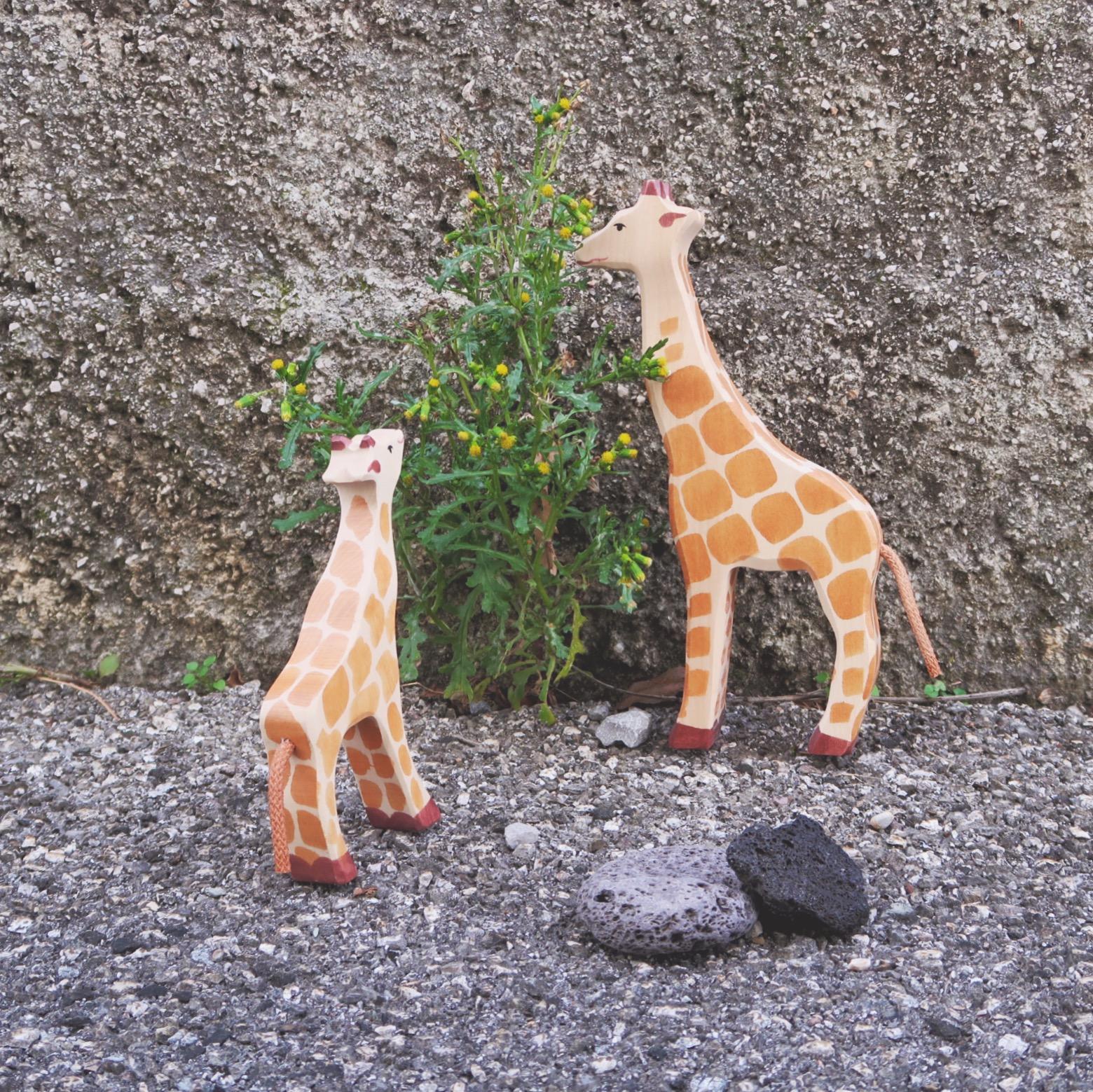 Action Figures Holztiger Giraffe Wooden Figure
