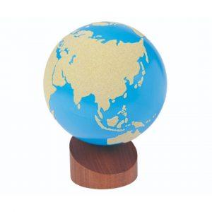 GAM montessori material early years globe land and water