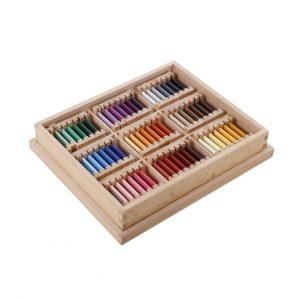 GAM montessori material third set of color tablets