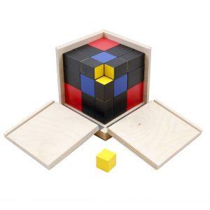 GAM montessori material trinomial cube