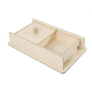 Gam montessori material early years object permanence box with sliding lid