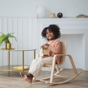 Plan toys rocking chair for kids made of rubberwood and planwood