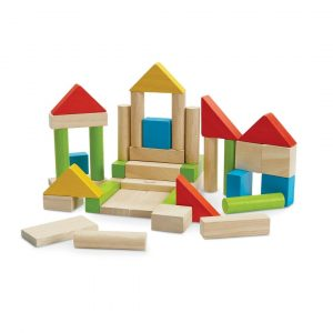 Plan Toys unit blocks colorful