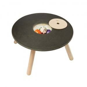 Plan Toys round activity table for children made of rubberwood and planwood