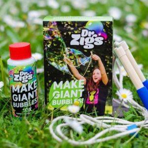 Dr Zigs eco-friendly giant bubble travel kit set